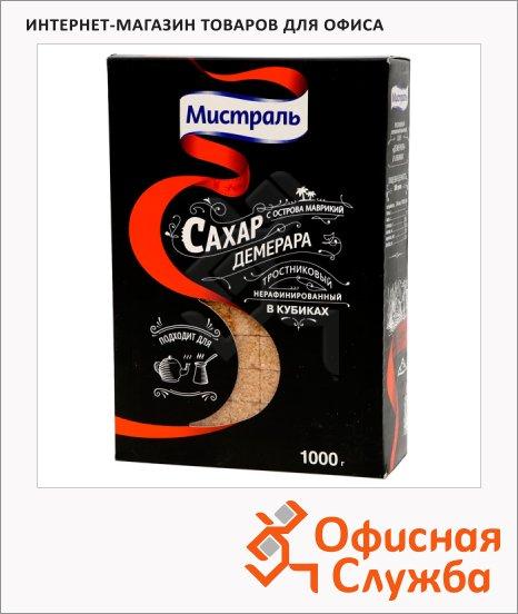 Сахар Мистраль Демерара кусковой, коричневый, 1кг, нерафинированный