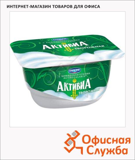 фото: Йогурт Активиа творожная натуральная 4.5%, 130г