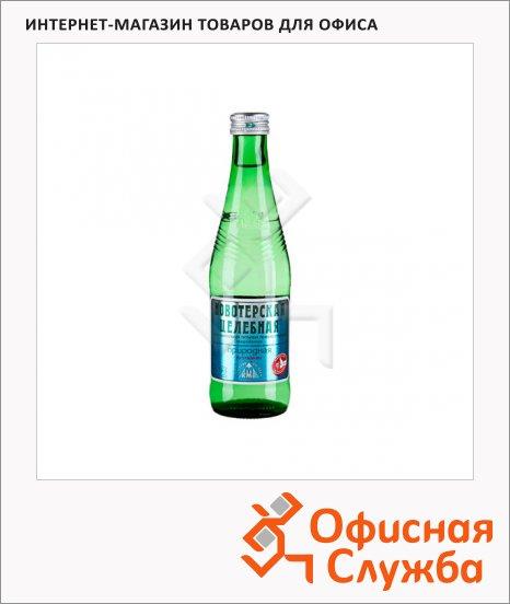фото: Вода минеральная Новотерская газ стекло, 330мл