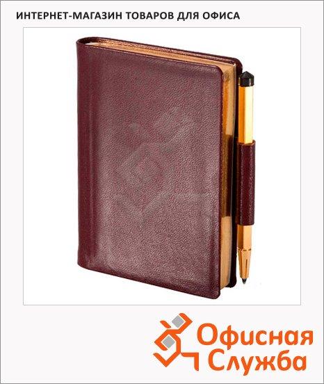 Записная книжка Brunnen Мини Ля Фонтейн бордовая, А7, 128 листов, 5.6х8.3см
