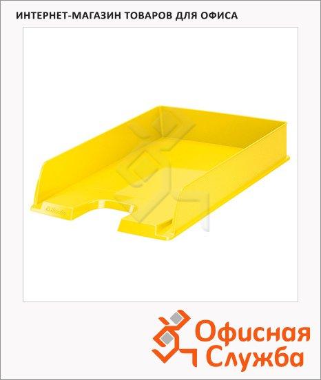 Лоток горизонтальный для бумаг Esselte Vivida Europost А4, желтый, 623925