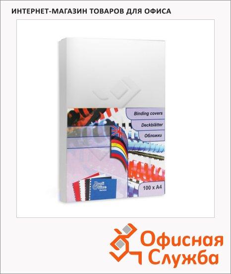 фото: Обложки для переплета картонные Profioffice белые А4, 250 г/кв.м, 100шт, 49201