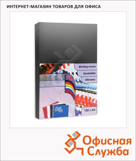 Обложки для переплета картонные Profioffice черные, А4, 250 г/кв.м, 100шт, 49202