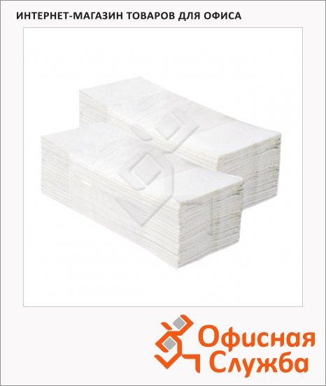 Бумажные полотенца Merida V-Classic 5000 ПЗР00, листовые, белые, 250шт, 1 слой, 20 пачек