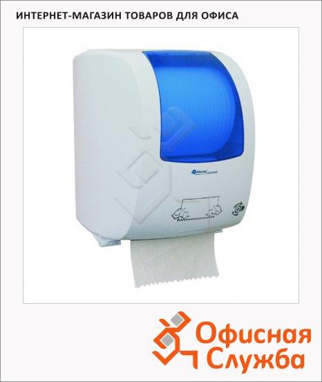 фото: Диспенсер для рулонных бумажных полотенец Top Maxi Automatic белый с синим пластик