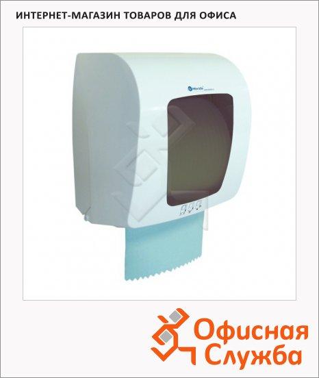 Диспенсер для рулонных бумажных полотенец Merida Top Mini белый с серым, пластик, сенсорный
