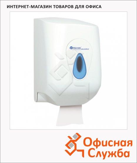 Диспенсер для полотенец в рулонах Merida Top Maxi PR1TN, белый/синий