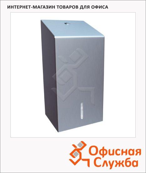 Диспенсер для листовой туалетной бумаги Merida Stella, матовая сталь