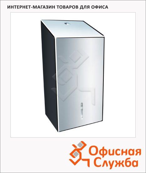 Диспенсер для туалетной бумаги листовой Merida Stella BSP401, металлик