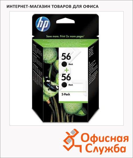Картридж струйный Hp 56 C9502AE, черный, 2шт/уп