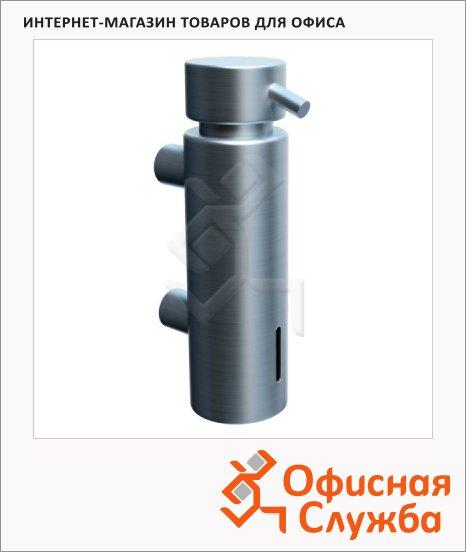 Дозатор для мыла Merida Vip D45S, с настенным креплением, металлик, 300мл