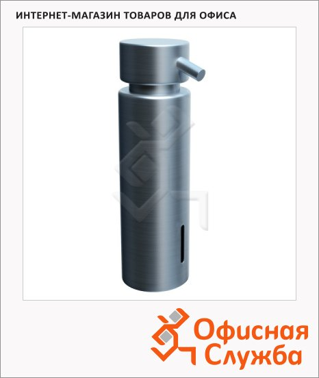 Дозатор для мыла Merida Vip D44S, настольный, матовый металлик, 300мл