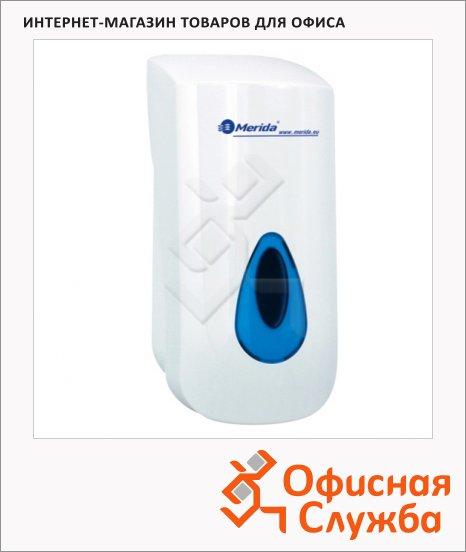 Диспенсер для мыла-пены без помпы Merida Top, белый с серой каплей
