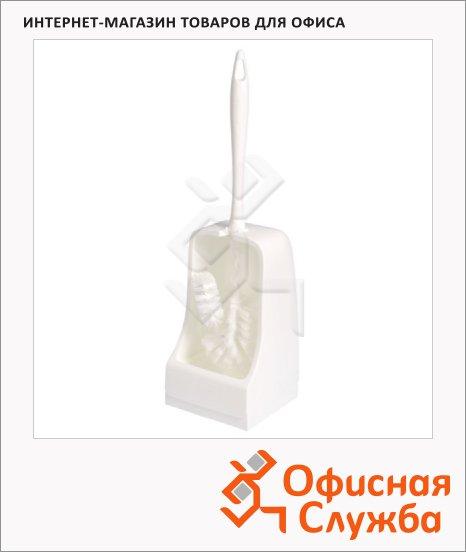Ершик для унитаза Merida белый, d=12, 43см