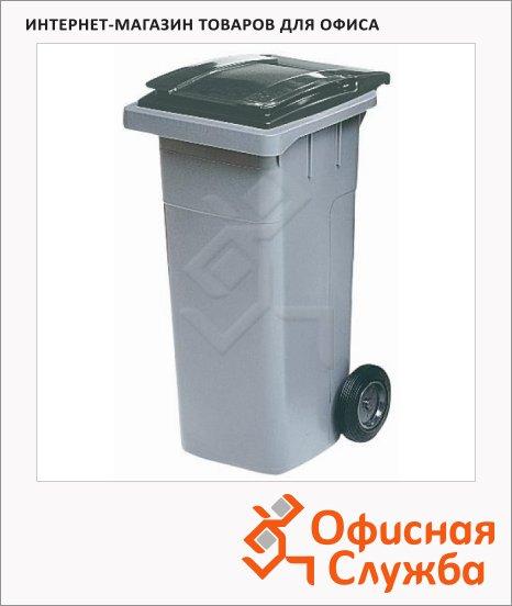 Контейнер для мусора пластиковый Merida негорючий серый, 120л