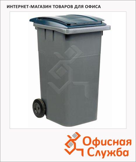 Контейнер для мусора пластиковый Merida негорючий серый, 240л