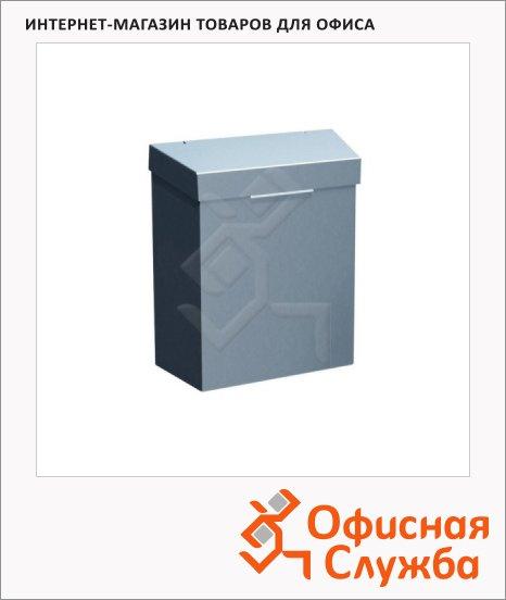 Контейнер для мусора подвесной Merida Stella 4.5л, металлик, с откидной крышкой, KSM301