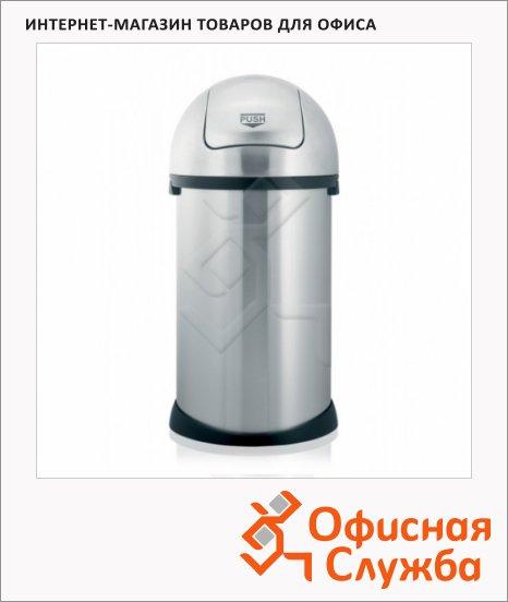 фото: Контейнер для мусора Merida Push Bin 50л матовый металлик, с качающейся крышкой, KMS08