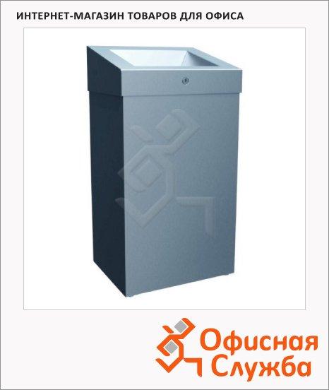 Контейнер для мусора Merida Stella Plus 47л, металлик, с конусным отверстием, KSM102