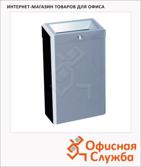 Контейнер для мусора Merida Stella Mini 27л, металлик, с конусным отверстием, KSP101