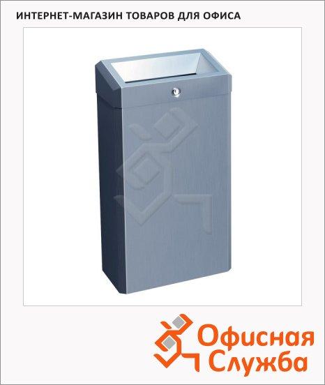 Контейнер для мусора Merida Stella Mini 27л, металлик, с конусным отверстием, KSM101