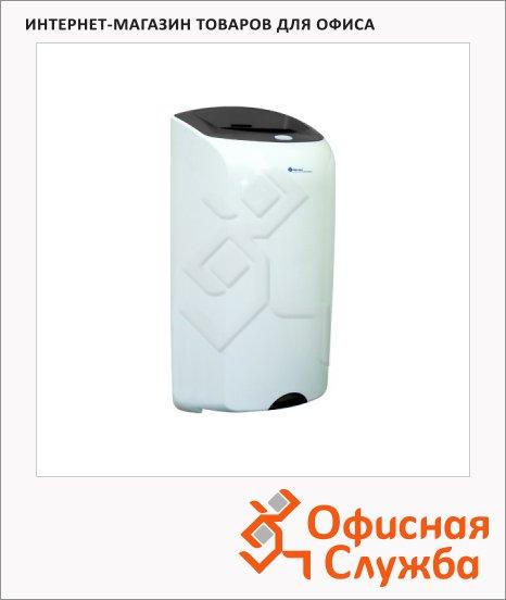 Контейнер для мусора подвесной Merida Top 40л, со съемной крышкой, серо-белая, KTS101