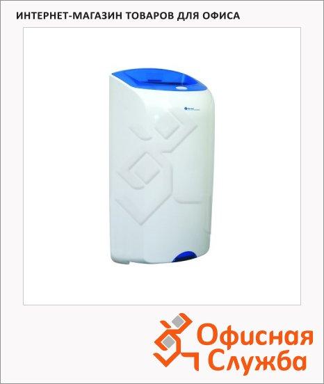 Контейнер для мусора подвесной Merida Top 40л, со съемной крышкой, сине-белая, KTN101