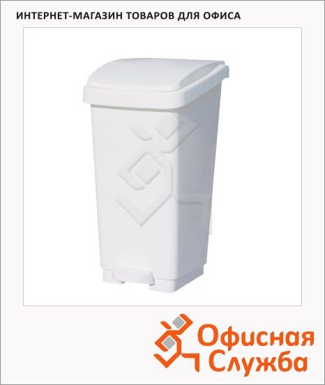 фото: Контейнер для мусора с педалью Merida 50л белый, KAB405