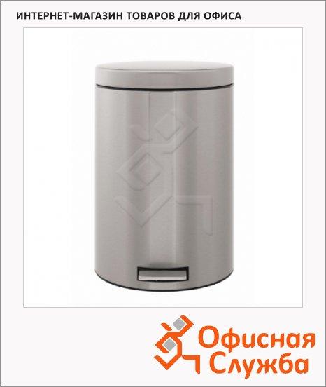 Контейнер для мусора с педалью Merida 20л, металлик, с внутренним ведром, B4C