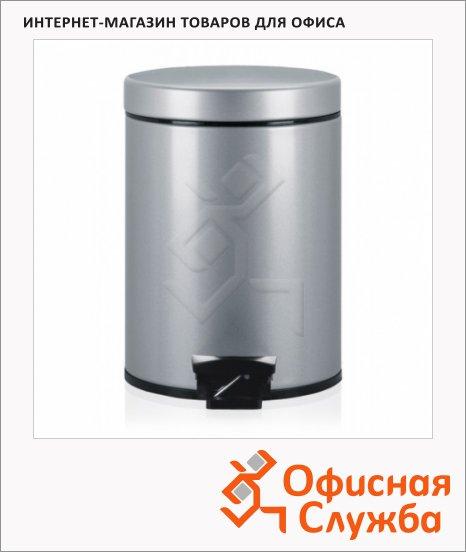 Контейнер для мусора с педалью Merida Brabantia 5л, металлик, с внутренним ведром, B4A