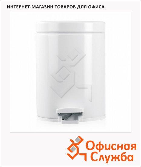 Контейнер для мусора с педалью Merida Brabantia 5л, белый, с внутренним ведром, B3A