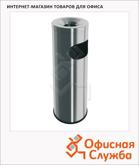 Урна-пепельница напольная Merida 9л, металлик, P1M