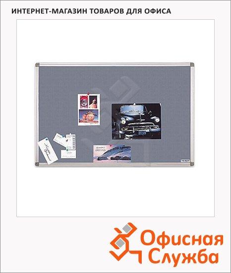 Доска текстильная Magnetoplan 1460003 60х45см, алюминиевая рама, серая