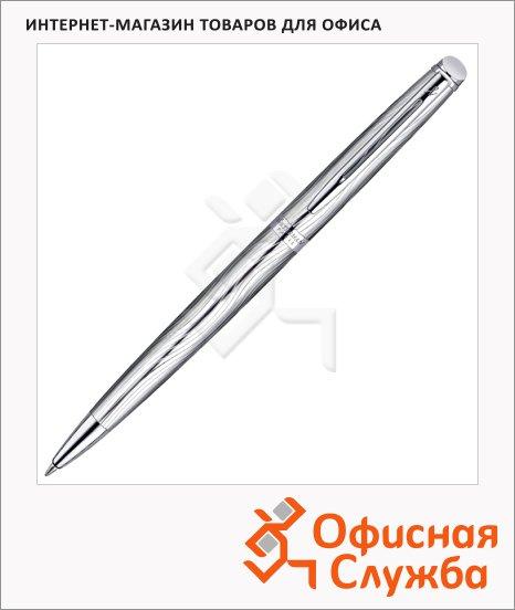 Ручка шариковая Waterman Hemisphere Deluxe М, синяя, стальной корпус