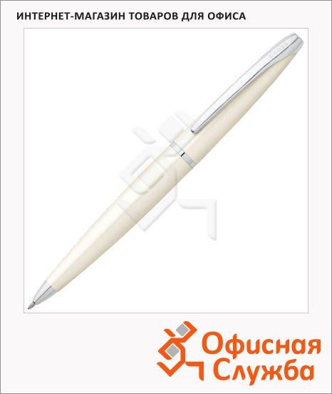 Ручка шариковая Cross ATX 0.7мм, черная, белый корпус