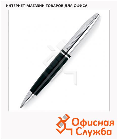 фото: Ручка шариковая Cross Calais 1мм черная, хром/черный корпус, AT0112-2