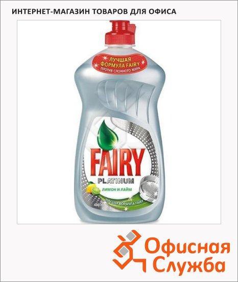 Средство для мытья посуды Fairy Platinum 0.48л, гель, лимон/ лайм