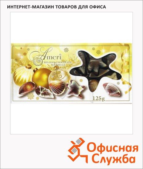 Конфеты Ameri Ракушки с начинкой пралине в новогодней упаковке, 125г