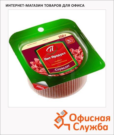 Колбаса Пит-Продукт сервелат элитный варено-копченая, 250г