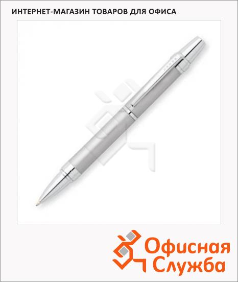 фото: Ручка шариковая Cross Nile 1мм черная, матовый хром корпус, AT0382G-8