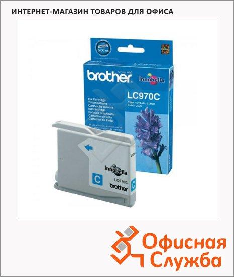 Картридж струйный Brother LC970C, голубой