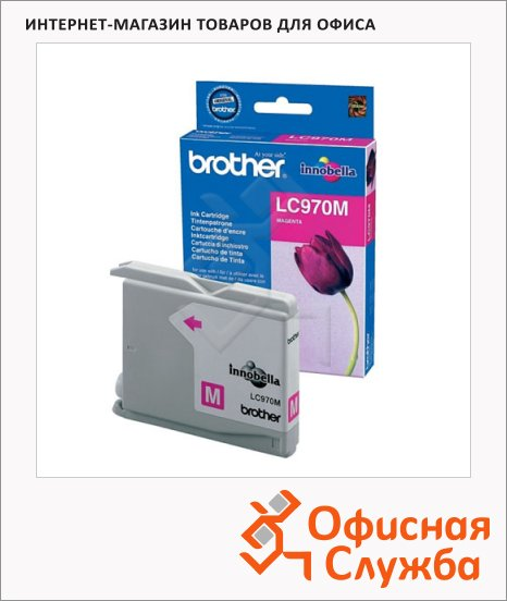 Картридж струйный Brother LC970M, пурпурный