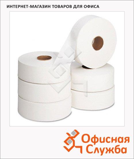 фото: Туалетная бумага в рулоне серая, 525м, 1 слой