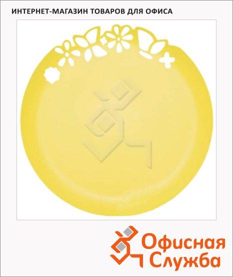 фото: Блюдо одноразовое Buffet с ажурным краем желтое d=27.3см, 3шт/уп