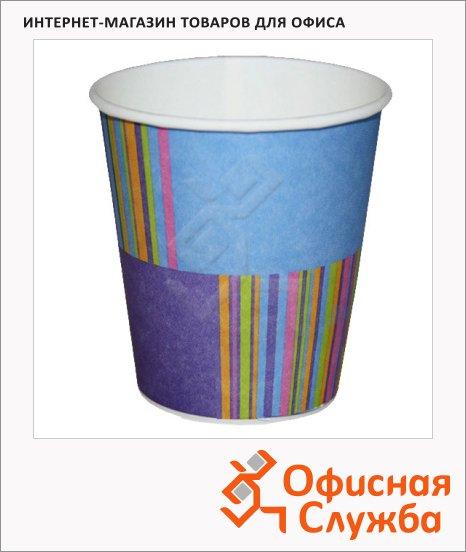 Стакан одноразовый Buffet Bicolor джайф, бумажный, 200мл, 6шт/уп