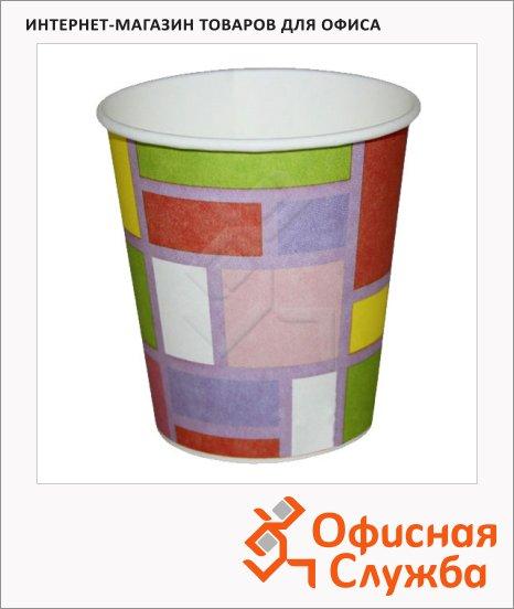 Стакан одноразовый Buffet Bicolor смальта, бумажный, 200мл, 6шт/уп