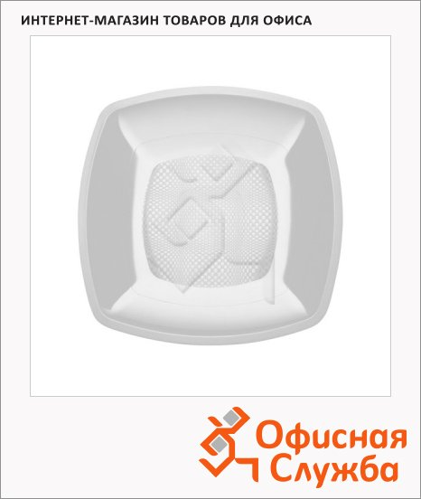 Тарелка одноразовая Buffet белая, 18см, квадратная глубокая, 6шт/уп