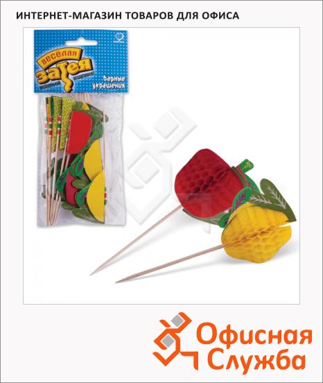 фото: Пика для канапе Веселая Затея фрукты 10см 12шт/уп