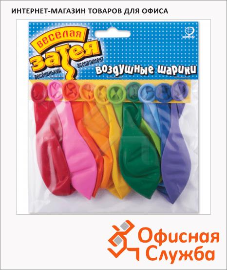 фото: Воздушные шары Веселая Затея 10 пастельных цветов 25см, 10шт, в пакете, 1111-0104