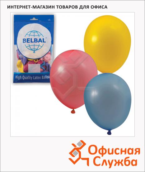 фото: Воздушные шары Веселая Затея 12 пастельных цветов 25см, 50шт, в пакете, 1101-0031